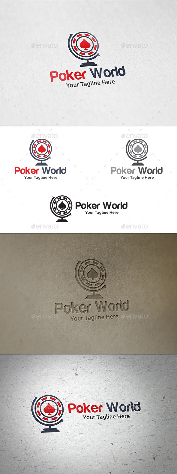 Poker World - Logo Template