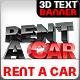 Rent A Car 3D Text - GraphicRiver Item for Sale