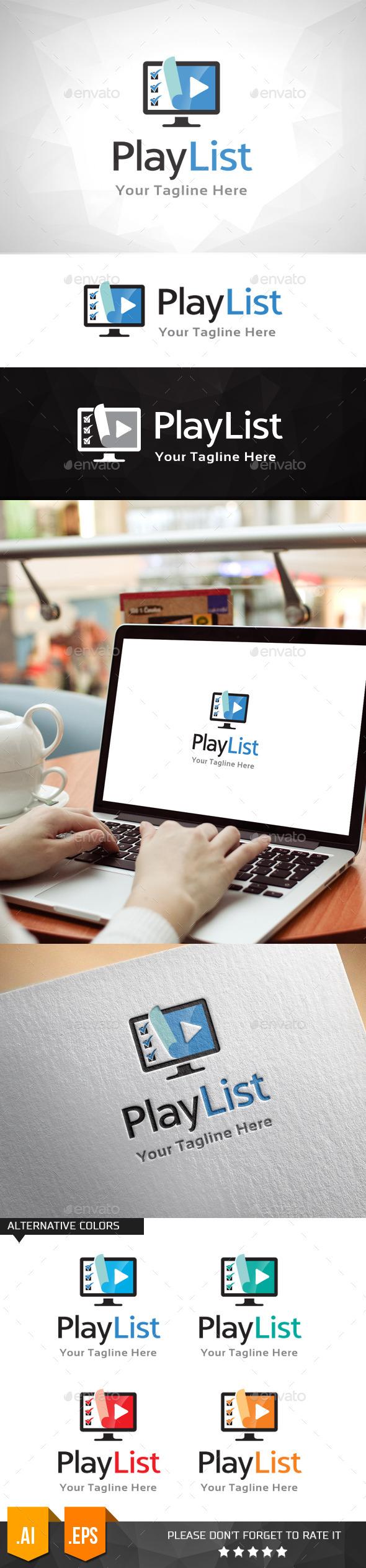 Playlist Media Logo Template