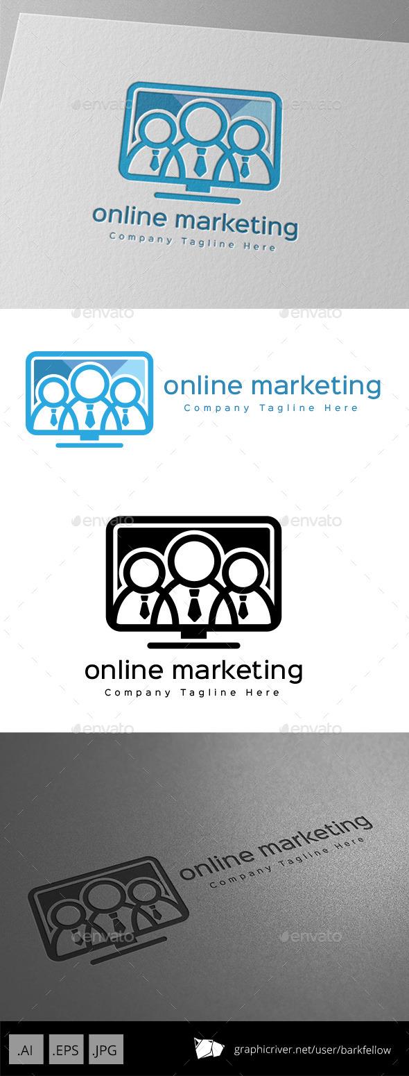 Online Marketing Monitor Logo Design
