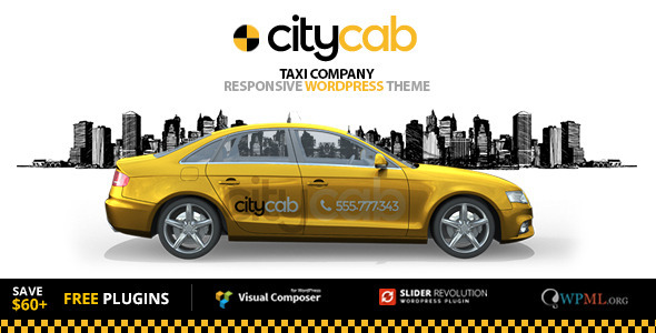 CityCab - Taxi Company  WordPress Theme
