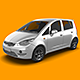 Subcompact Car Mock-Up - GraphicRiver Item for Sale