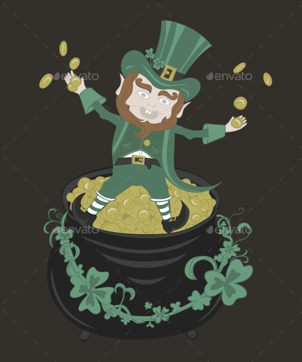 Saint Patrick Playing with Golden Coins