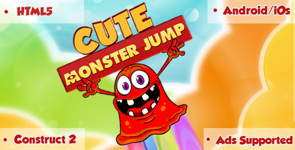 Cute Monster Jump - HTML5 Game