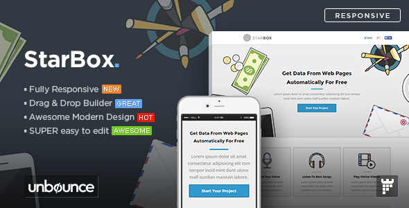 StarBox - Startup Unbounce Landing Page Template