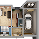 Home Interior Floor Plan 01 - 3DOcean Item for Sale