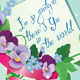 Vintage Card with Flowers - GraphicRiver Item for Sale