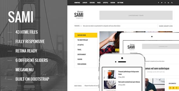 SAMI - Responsive Magazine/Blog HTML Template