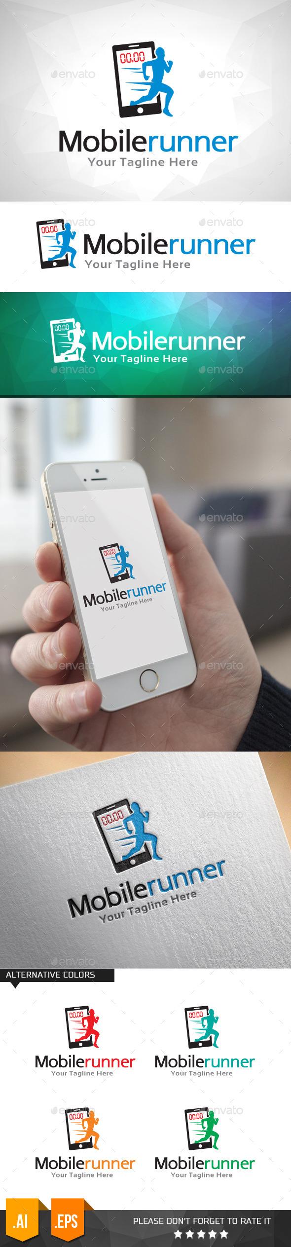 Mobile Runner Logo Template