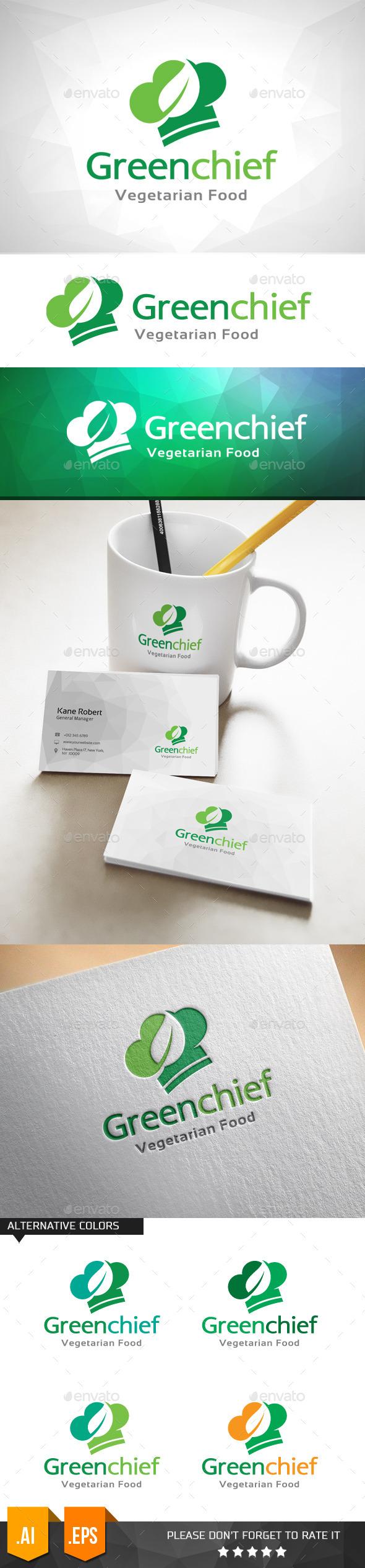 Green Chief Logo Template