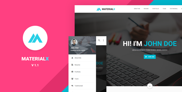 MaterialX - Material Design Personal Template
