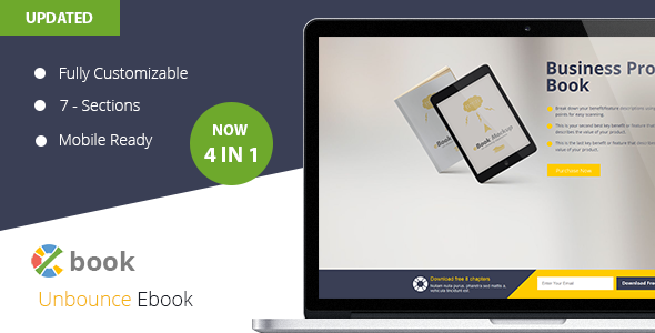 Ebook  Unbounce Template