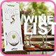 Clean Design Wine List Template  - GraphicRiver Item for Sale