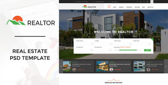 Realtor Website Templates From Themeforest