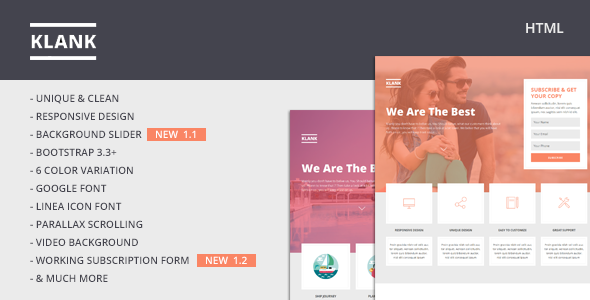 Klank | Multipurpose Landing Page With Bootstrap
