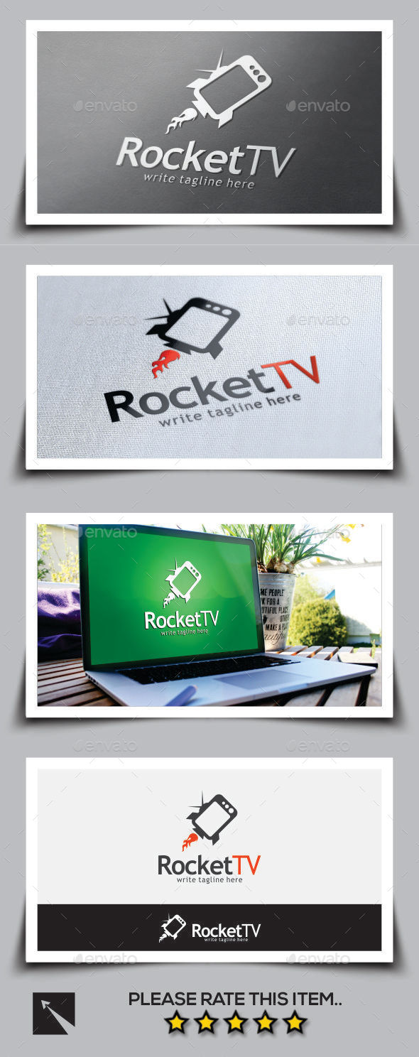Rocket Tv Logo Template