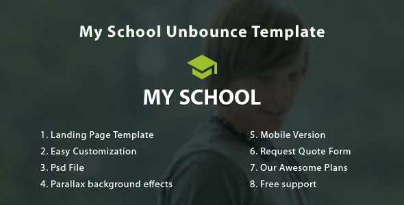 My School Unbounce Landing Page