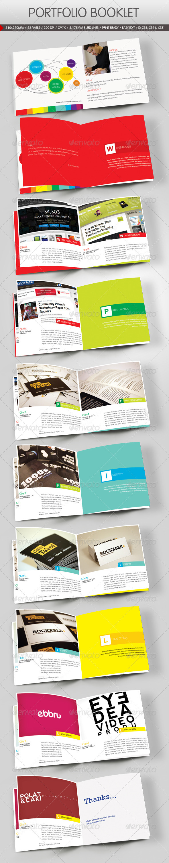 photo about Printable Portfolio Template named Portfolio Brochure Templates against GraphicRiver