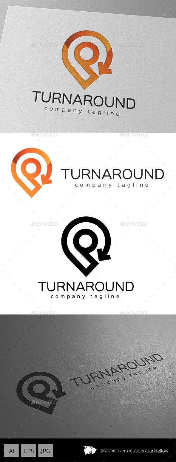 Turnaround Location Direction Logo Design