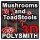 Mushroom and Toadstools - 3DOcean Item for Sale