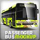 Passenger bus, Coach bus mock-up - GraphicRiver Item for Sale