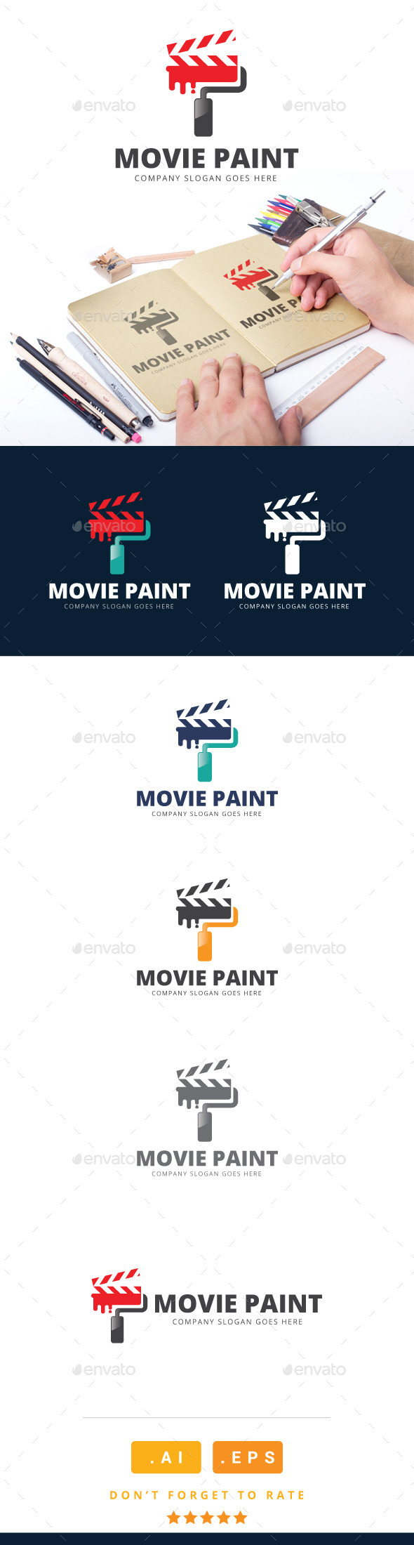 Movie Paint Logo