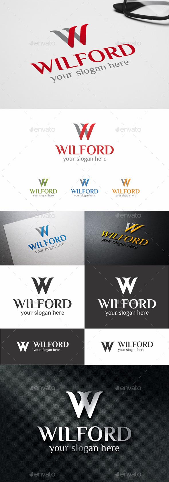 W Logo Template Letter Design
