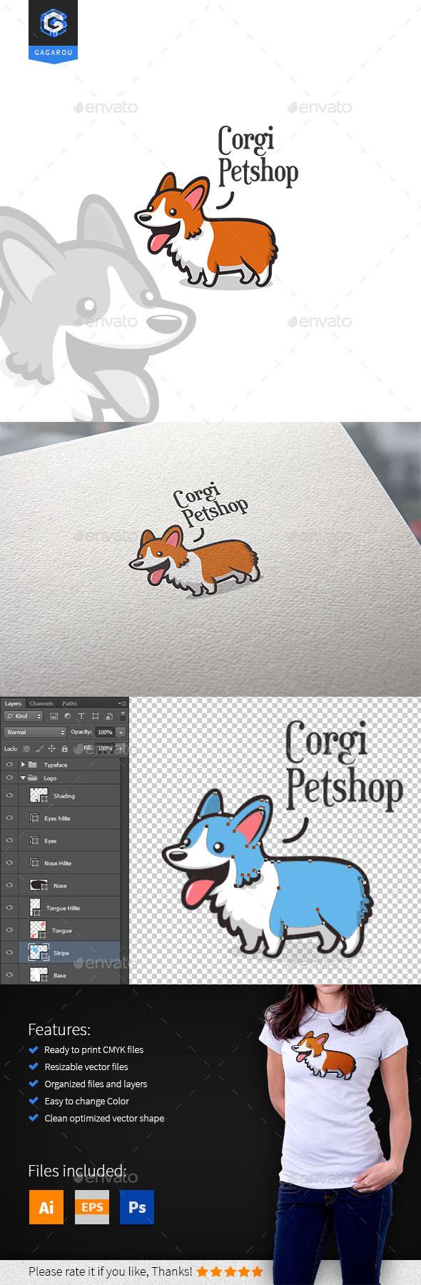 Corgi Petshop Logo