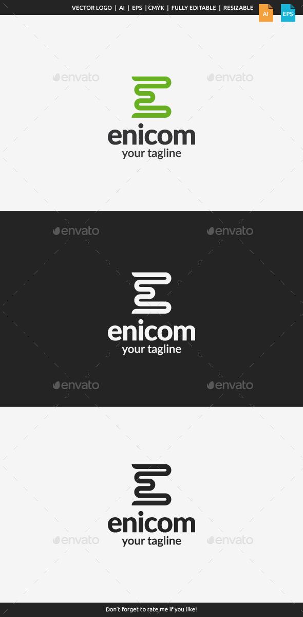 Enicom - Letter E