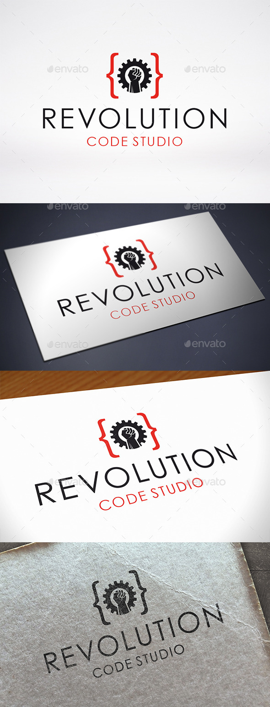Code Revolution Logo Template