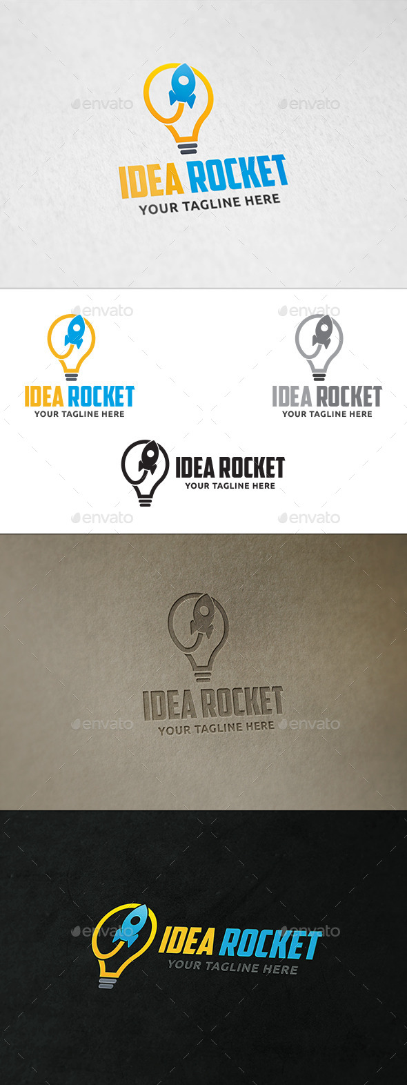 Idea Rocket - Logo Template