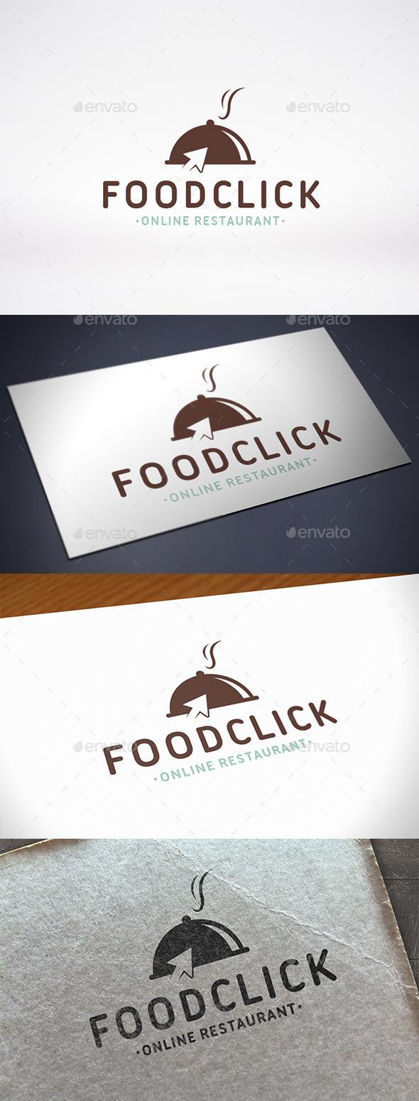 Food Click Logo Template