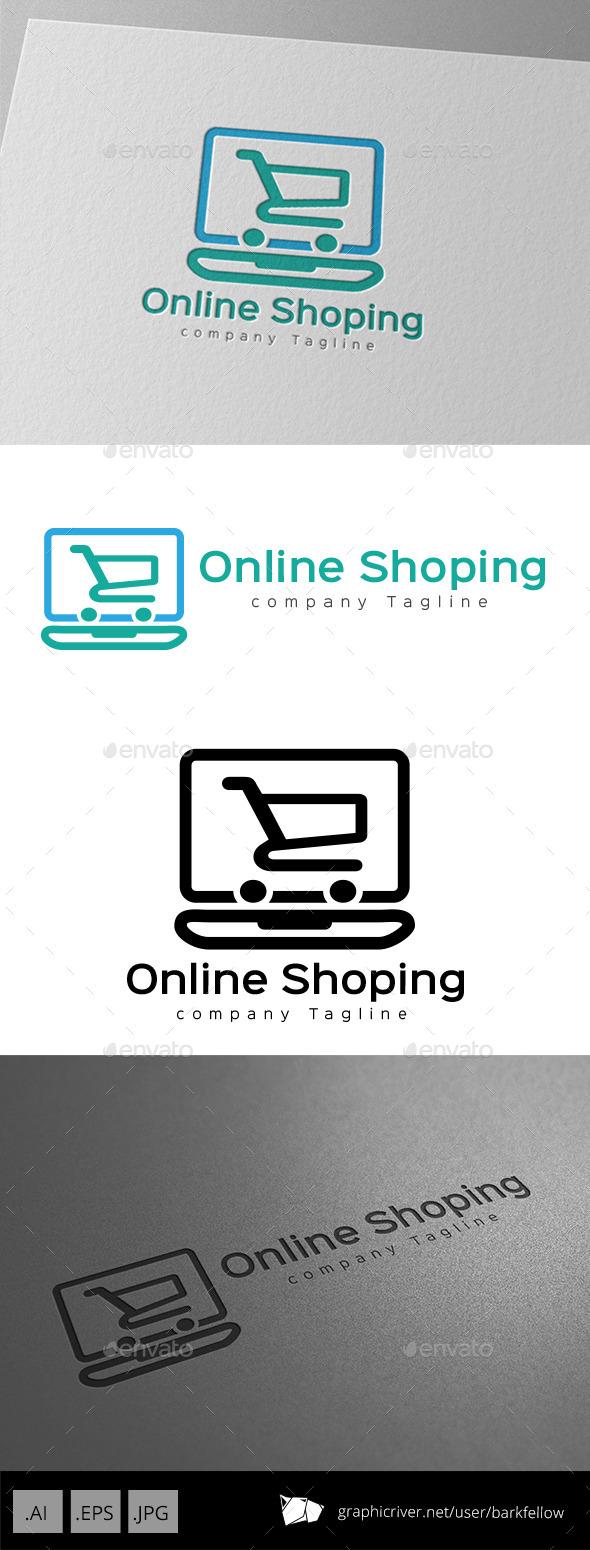 Online Shopping Cart Logo Design