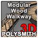 Modular Wood Walkway or Jetty - 3DOcean Item for Sale