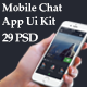 Mobile Chat App Ui Kit - GraphicRiver Item for Sale
