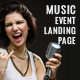Electron Music Event Landing Page - ThemeForest Item for Sale