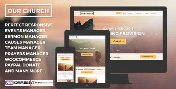 Our Church - WordPress Churches Theme
