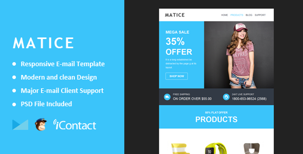 Matice - Responsive E-mail Template + Themebuilder Access