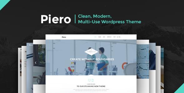 PIERO | Clean, Modern, Multi-Use Wordpress Theme
