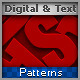 Digital and Text  Seamless Patterns  - GraphicRiver Item for Sale