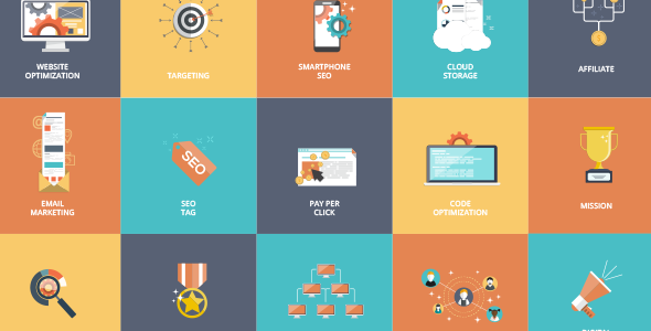 16 Animated SEO Icons