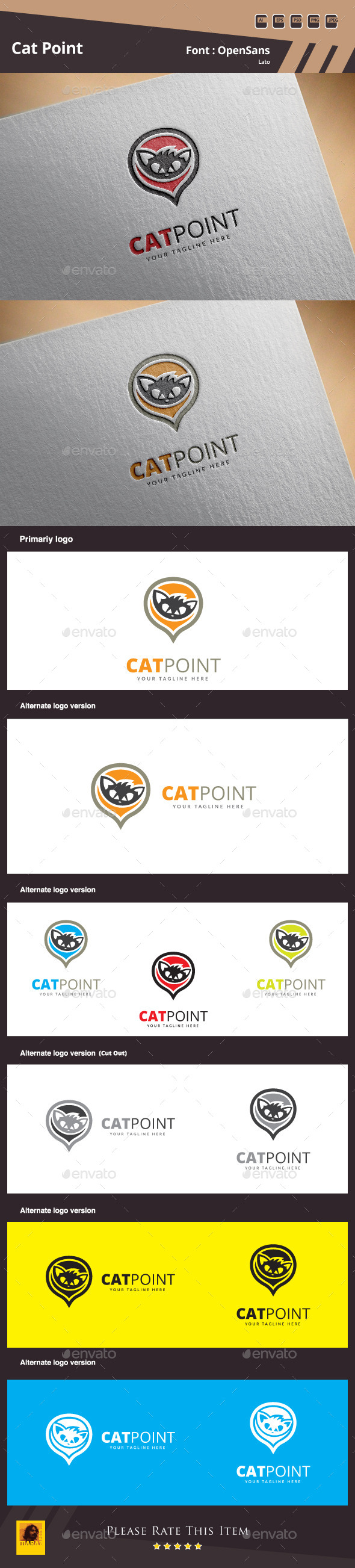 Cat Point Logo Template