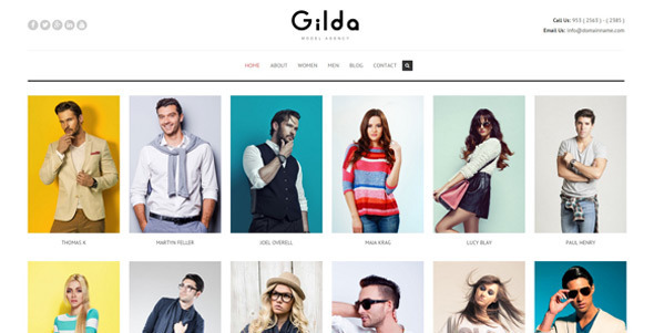 Gilda - Model Agency WordPress CMS Theme