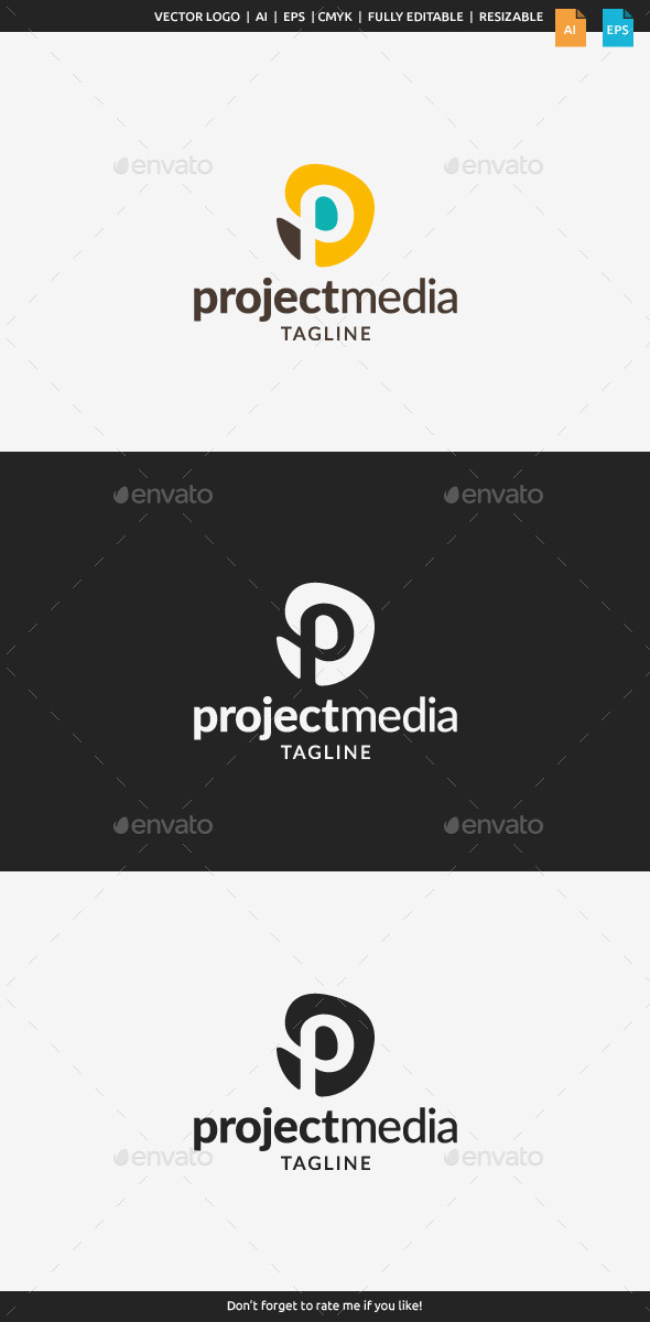 Project Media Logo - Letter P