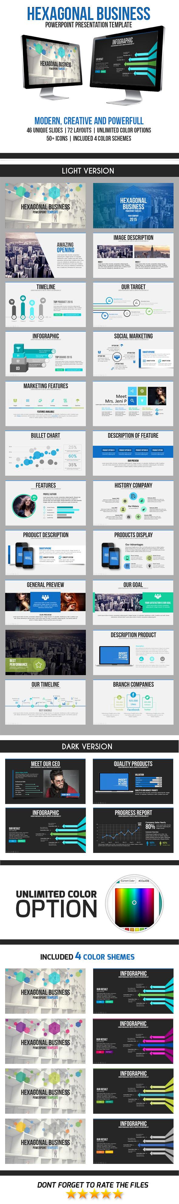 Hexagon Business PowerPoint Template