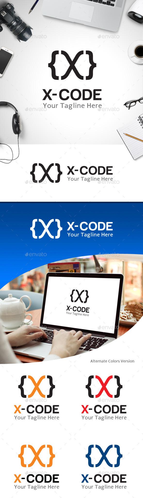 X Code Letter X Logo