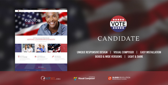 CANDIDATE | Political Campaign, Wordpress Theme