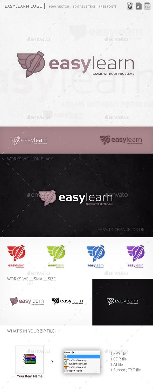 Easylearn Hand Pencil Logo Template