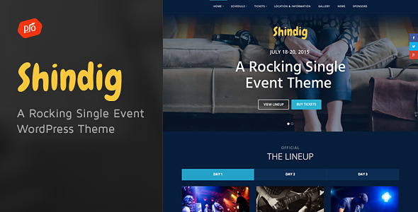 Shindig - A Rocking Single Event Theme