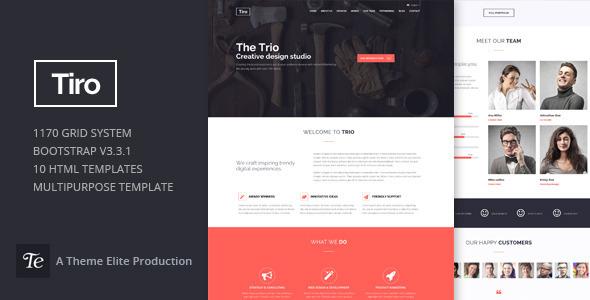 Trio - Bootstrap Responsive Multipurpose Template